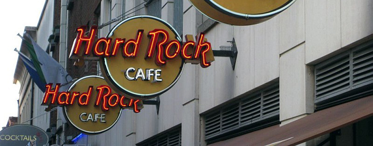Das Dubliner Hard Rock Café befindet sich in Temple Bar