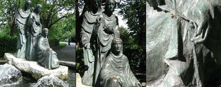 Deutsche Dankbarkeit: The Three Fates Brunnen